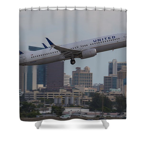 United Airlinea Shower Curtain