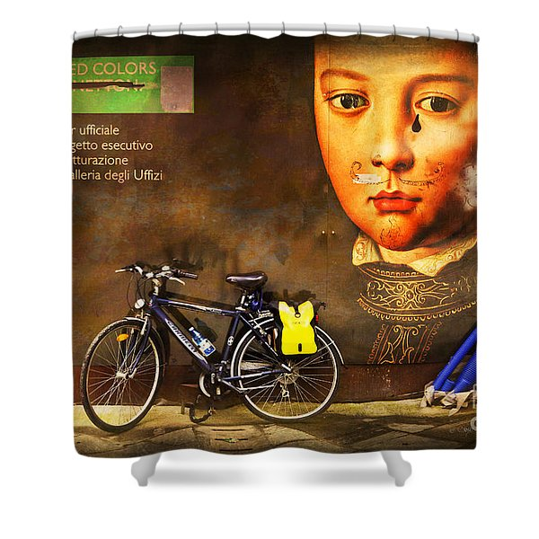 United Colors Bicycle Shower Curtain