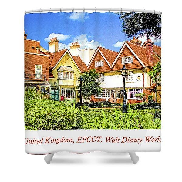 United Kingdom Buildings, Epcot, Walt Disney World Shower Curtain