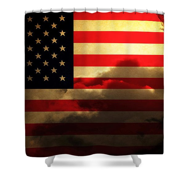 United States Of America . Land Of The Free Shower Curtain
