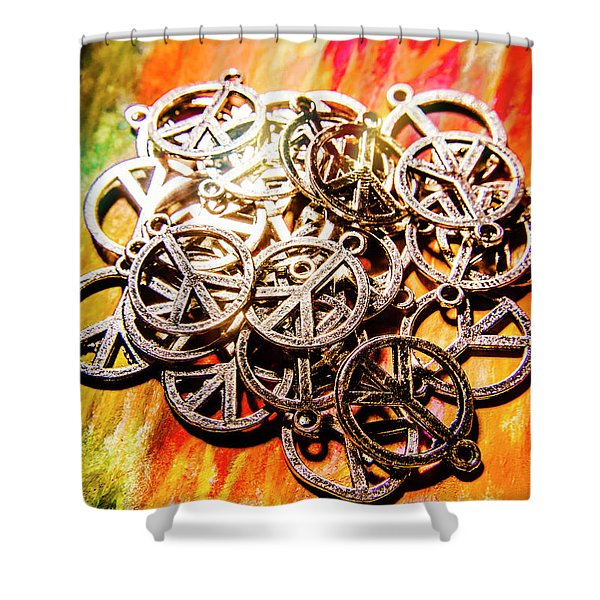 Unity In Pendant Peace Shower Curtain