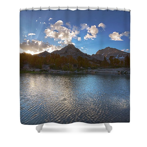 Universe Rising Shower Curtain