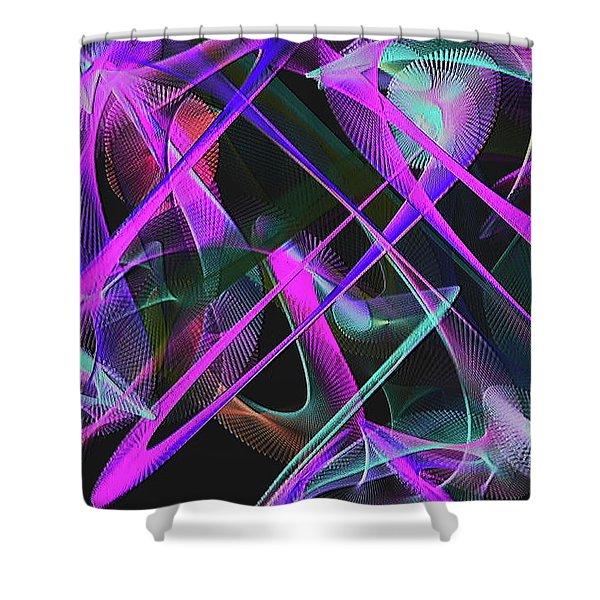 Shower Curtain featuring the digital art Universe by Visual Artist Frank Bonilla