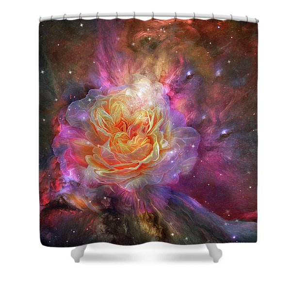 Universe Within A Rose Shower Curtain
