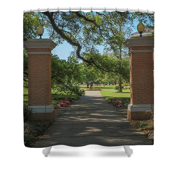 University And Johnston Entrance Shower Curtain