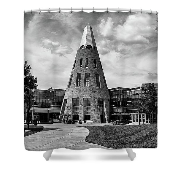 University Center B W Shower Curtain
