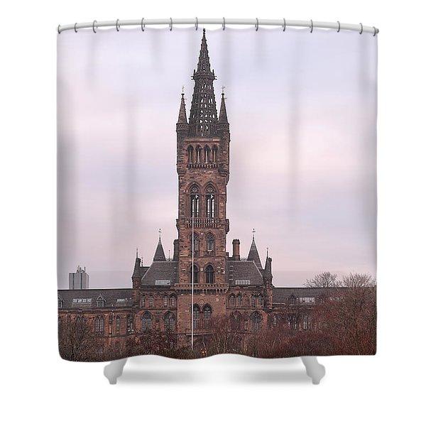 University Of Glasgow At Sunrise Shower Curtain