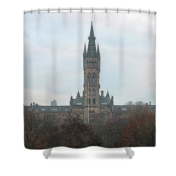 University Of Glasgow At Sunrise - Panorama Shower Curtain