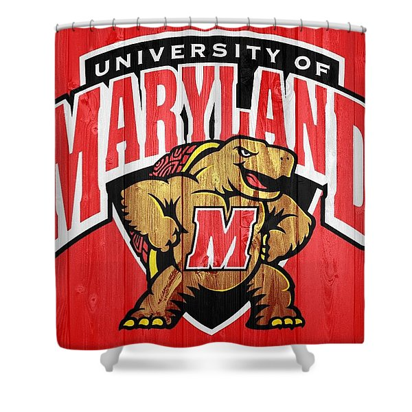 University Of Maryland Barn Door Shower Curtain