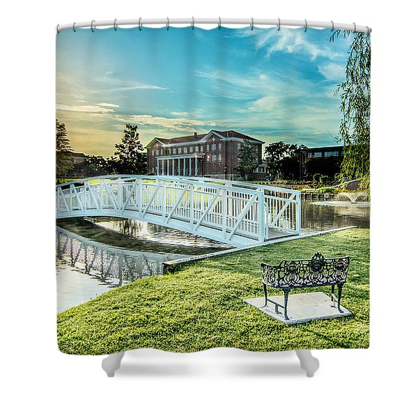University Of Southern Mississippi Shower Curtain