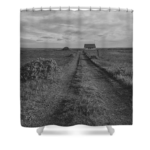 Unknown Road Bw Shower Curtain
