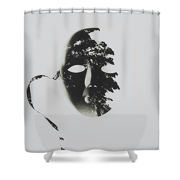 Unmasking In Silence Shower Curtain