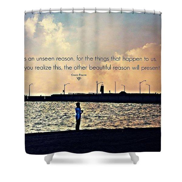 Unseen Reason Shower Curtain