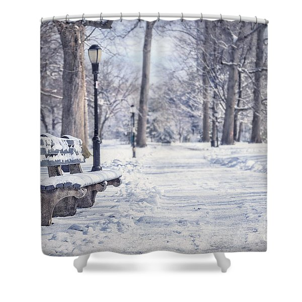 Until It Melts Away Shower Curtain