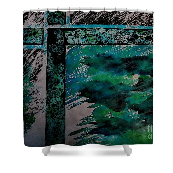 Fencing-1 Shower Curtain