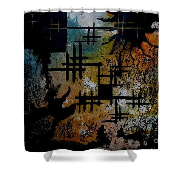 Cross Line Shower Curtain