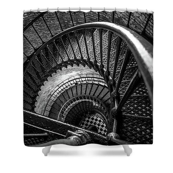 Unwind  - Currituck Lighthouse Shower Curtain