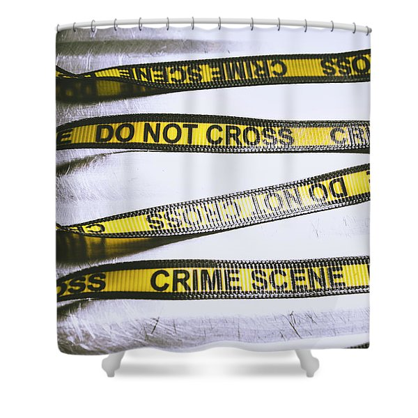 Unwrapping A Murder Investigation Shower Curtain