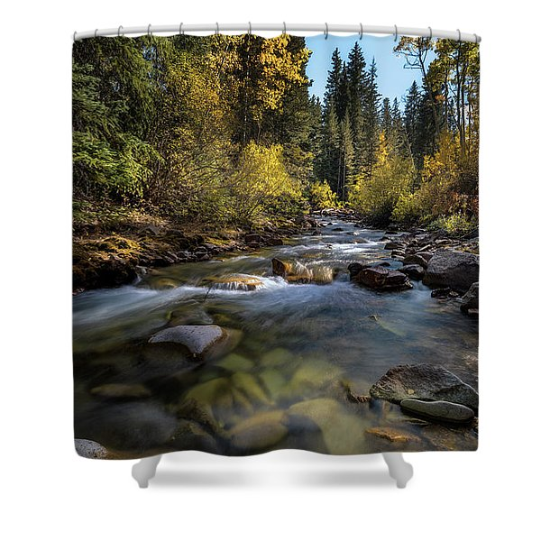Up A Colorado Creek Shower Curtain