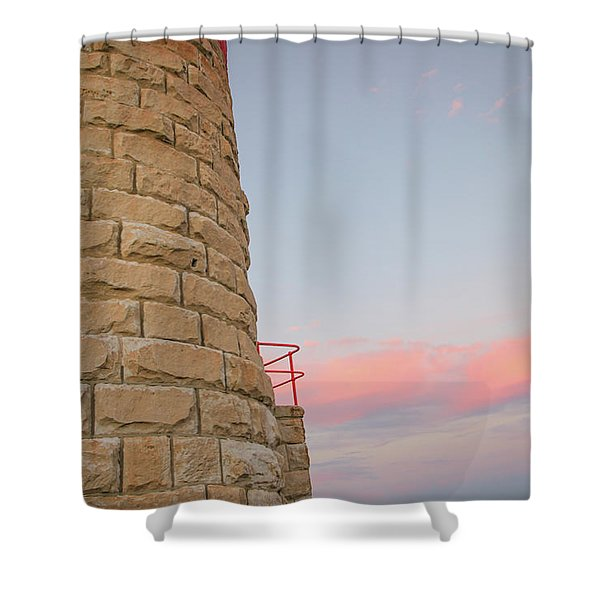 Close-up Detail Of The Cape Moreton Lighthouse Shower Curtain