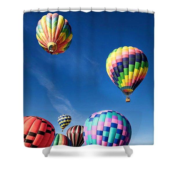 Up In A Hot Air Balloon 2 Shower Curtain