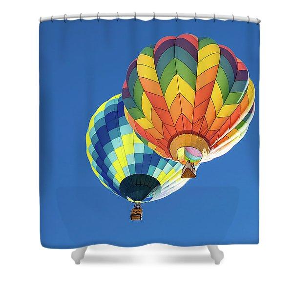 Up In A Hot Air Balloon Shower Curtain
