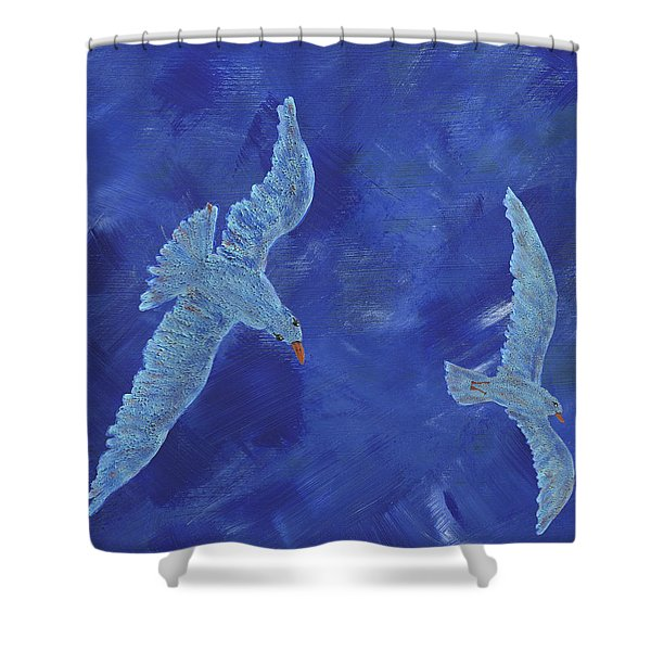Up In The Sky Shower Curtain