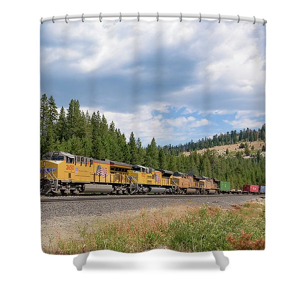 Up2650 Westbound From Donner Pass Shower Curtain