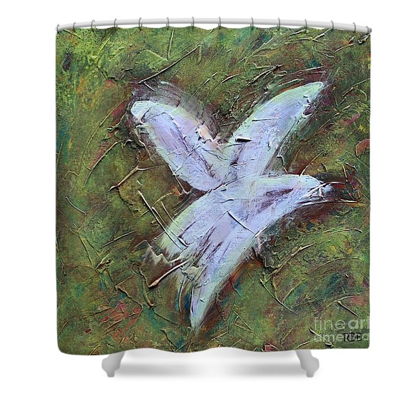 Upon Angels Wings Shower Curtain