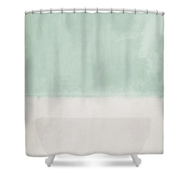 Upon Our Sighs 2- Abstract Art Shower Curtain