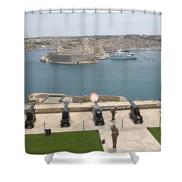 Upper Barrakka Saluting Battery Shower Curtain