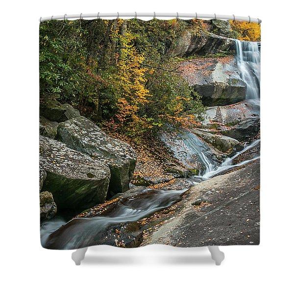 Upper Creek Falls Shower Curtain