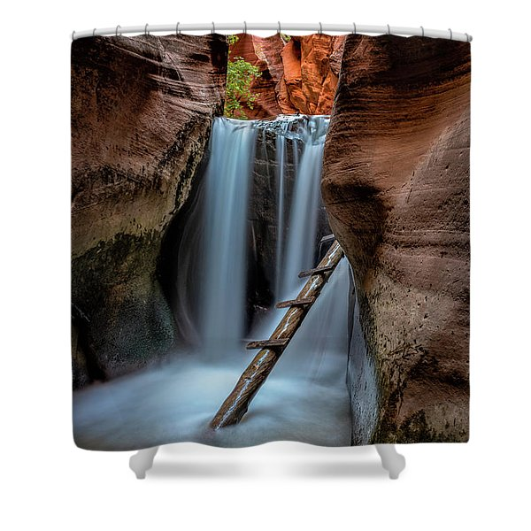 Upper Kanarraville Falls Shower Curtain