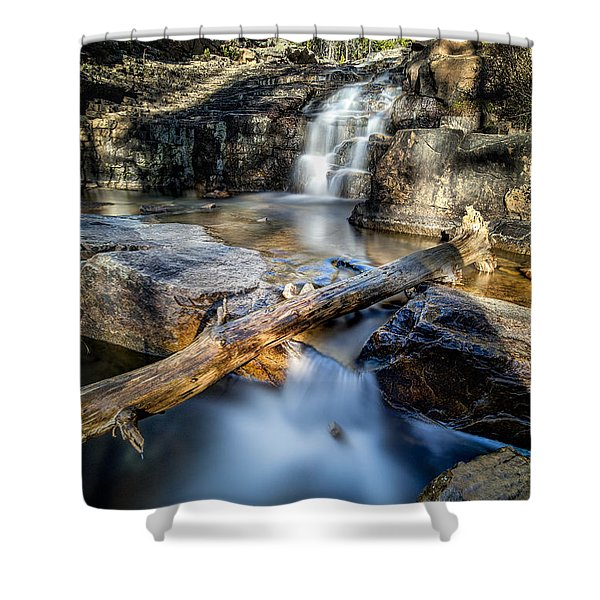 Upper Provo River Falls Shower Curtain