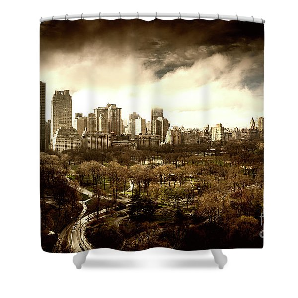 Upper West Side Of New York City Shower Curtain