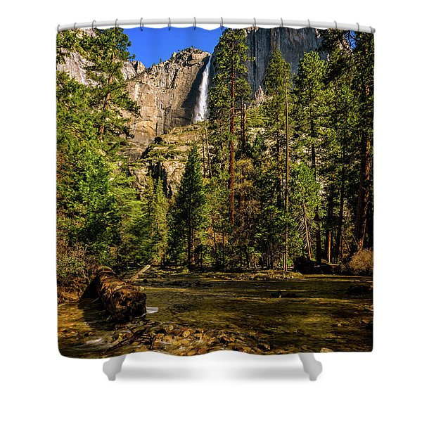 Upper Yosemite Falls From Yosemite Creek Shower Curtain