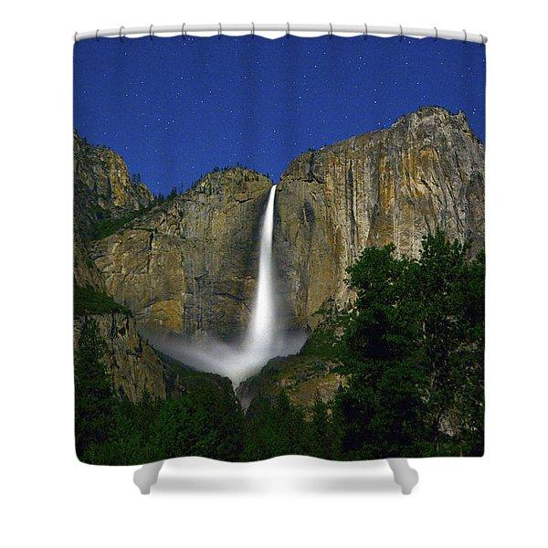 Upper Yosemite Falls Under The Stairs Shower Curtain