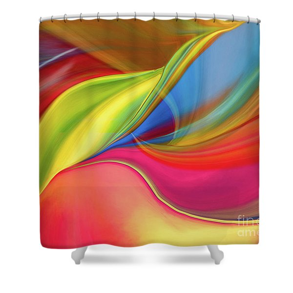 Upside Down Inside Out Shower Curtain