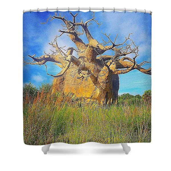 Upside Down Tree  Shower Curtain