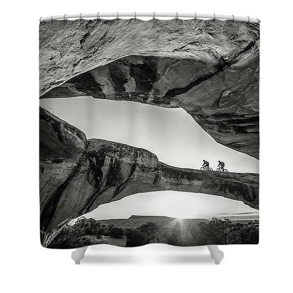 Uranium Arch Shower Curtain