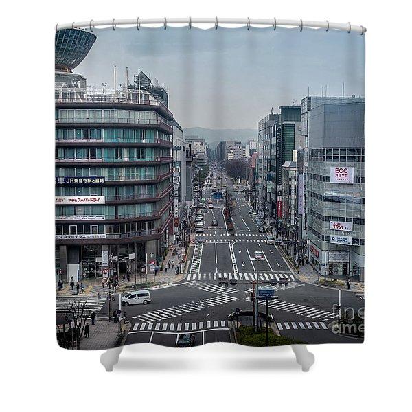 Urban Avenue, Kyoto Japan Shower Curtain