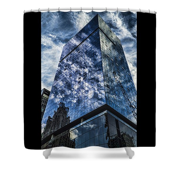 Urban Clouds Reflecting  Shower Curtain