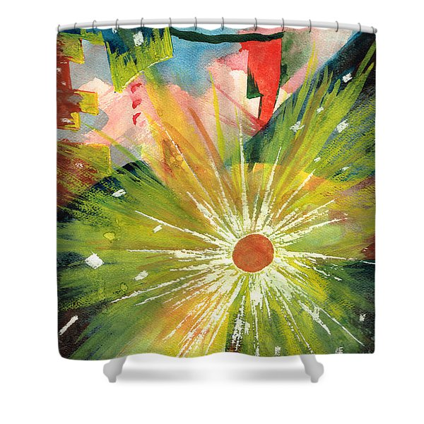 Urban Sunburst Shower Curtain