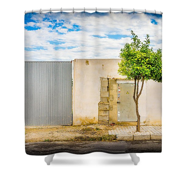 Urban Tree. Shower Curtain