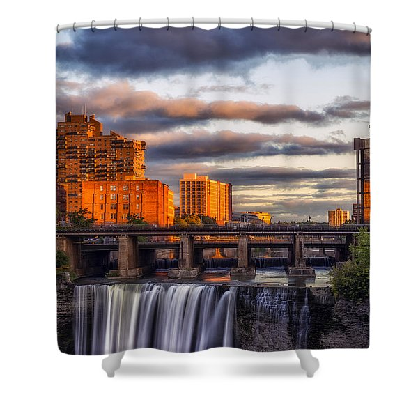 Urban Waterfall Shower Curtain