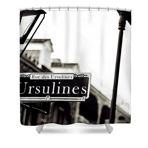 Ursulines In Monotone, New Orleans, Louisiana Shower Curtain