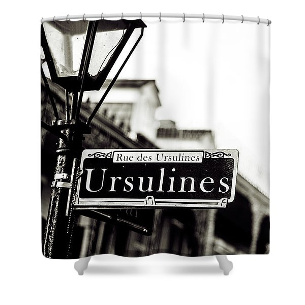 Ursulines In Monotone, New Orleans, Louisiana Shower Curtain