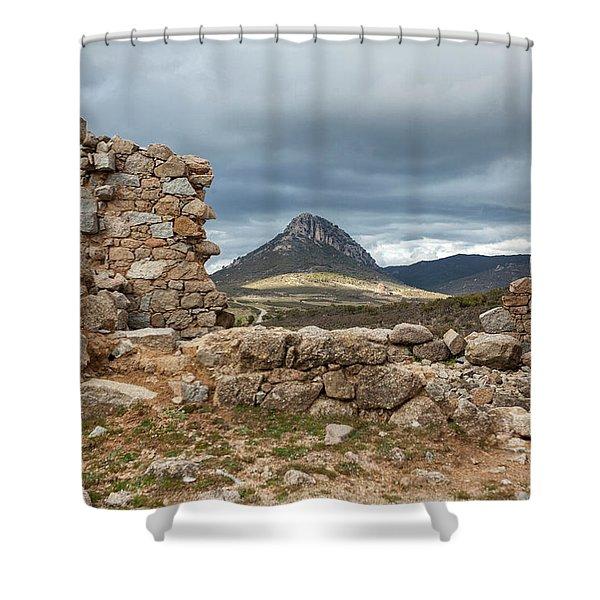 Urzulei Mountains Shower Curtain
