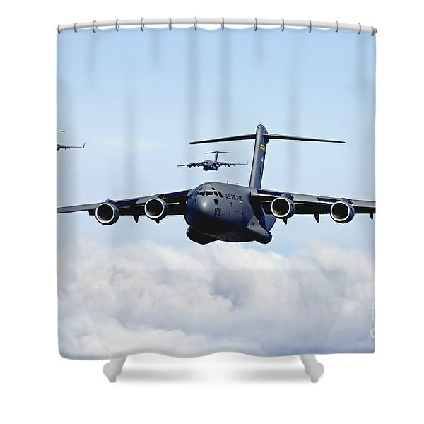U.s. Air Force C-17 Globemasters Shower Curtain