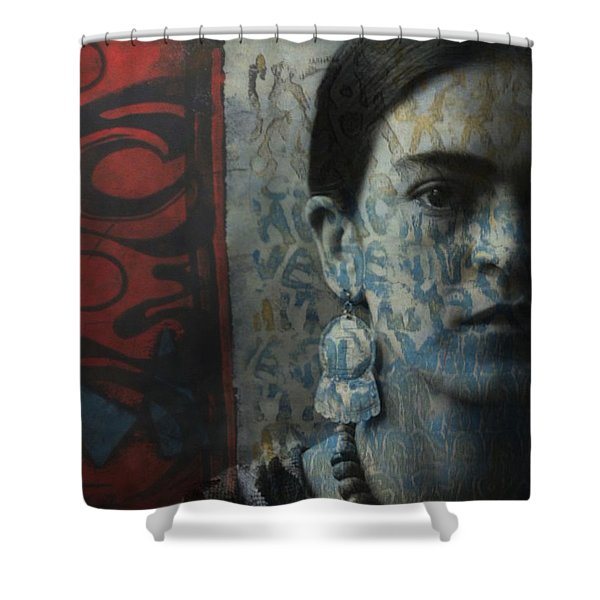 Us And Them - Frida Kahlo Shower Curtain